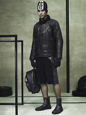 Alexander Wang X H&M Mens Black Leather Padded Jacket M L