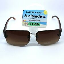 Foster Grant Ocean Womens Sun Readers Black Framed 2 in 1 Sun Glasses