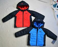 NWT BOYS TODDLER UNDER ARMOUR PUFFER OUTERWEAR JACKET WINTER COAT SZ 18, 24 MO