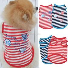 Hot Small Pet Dog Stripes Vest Puppy Cats Sleeveless Coat T-shirt Summer Clothes