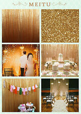 TRLYC Gold Sequin Backdrop for Wedding,Customer Sizes and Colors are Available