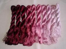 10 colors Chinese natural mulberry silk floss hand embroidery threads 7groups