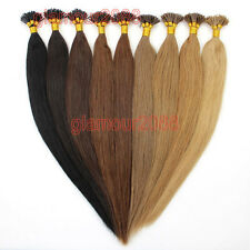 100S Pre Bonded Glue Stick/I Tip Brazilian Remy Human Hair Extensions Straight