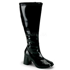 """Sexy 3"""" wide calf and wide foot go go costume boots"""