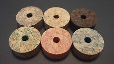 TWO CORK RINGS, ROD BUILDING (BURL BROWN, NATURAL, BURNT, GREEN, RED, BLUE)