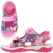 Peppa Pig Cambourne Girls Sandals - Pink/Denim (Sizes 5,6,7,8,9,10)