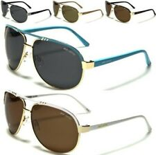 NEW BLACK SUNGLASSES POLARIZED LADIES MENS DESIGNER AVIATOR RETRO VINTAGE UV400