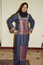 Caftan Abaya Islamic Jilbab Dress Kaftan Embroidered Egyptian Cotton Women Dress