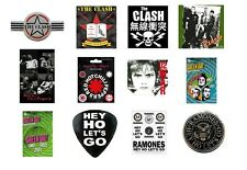 THE CLASH red hot chili peppers U2 green day THE RAMONES -  OFFICIAL STICKER