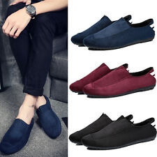 New Men's Suede Slip On Loafer Driving Moccasin Loafer Soft Casual Shoes Z88