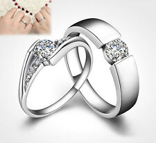 Silver Plated Ring Finger Band Crystal Bridal Jewelry Party Wedding Sexy Hot j