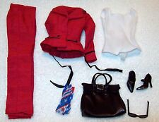 OOBF-Barbie-G6175-Fashion Only-Ensemble-Red Pant Suit + Plus