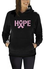 Hope Breast Cancer Awareness Pink Ribbon Women Hoodie Support