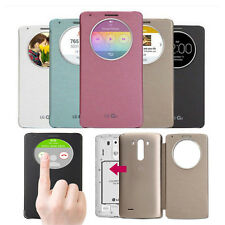Luxury Slim Quick Circle Clear Window Flip Case Cover For LG Optimus G3/G4