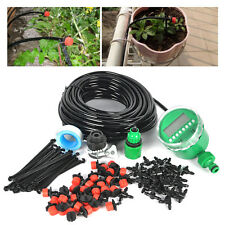 New DIY Micro Drip Irrigation System Dripper Auto Plant Watering 25m Garden Hose