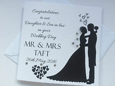 Personalised Son/Daughter/Brother/Sister Wedding Day Card
