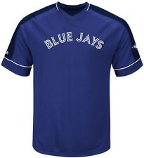 Toronto Blue Jays MLB Majestic Mens Lead Hitter Jersey Royal Big & Tall Sizes