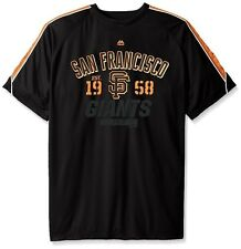 San Francisco Giants MLB Mens Birdseye Crewneck Shirt Black Big & Tall Sizes