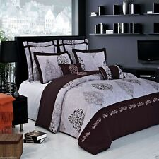 7pc Gizelle Embroidered Duvet Cover Bedding Set with Pillows AND Shams ALL SIZES