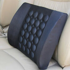 Car 12V Electrical  Office Waist Lumbar Massage Seat Cover Back Support Cushion