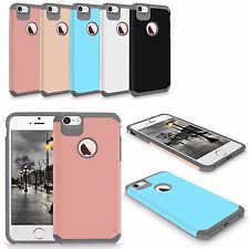 For iPhone 5 5S SE Hard Soft Heavy Duty Hybrid Rubber Shockproof Slim Case Cover
