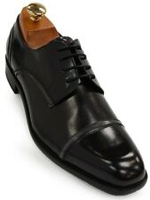 Kenneth Cole Reaction Mens Black Leather High Gloss Derby Business Dress Shoe