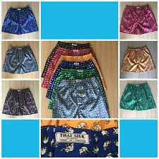 "New Premium Boxer Synthetic Thai Silk ""Elephant"" Design Short Pants M-XXL."