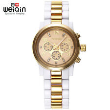 White Gold Dress Watches Womens Ladies Fashion Business Analog Quartz Watches