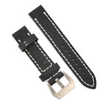 20mm 22mm 24mm Crocodile Grain Brown Genuine Leather Watch Band Strap 002