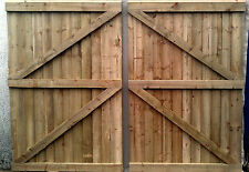 11 ft Wooden garden Gate, Driveway gate,Double Gate,Featheredge Gate  Heavy Duty