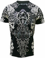 Konflic Nwt Men's Giant Wide Spread Eagle Grapic MMA Muscle Shirts(S/#748)