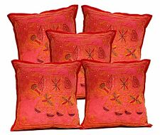 5pcs-100Pcs Jari Embroidered Work Elephant Ethnic Cushion Covers Wholesale Lot