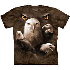 EAGLE MOON EYES Bird T-Shirt The Mountain USA Bald America Collage Tee S-3XL NEW