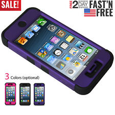 3 Layers Hybrid Armor Cover Case with Inner Soft Shell for Apple iPhone 5/5S