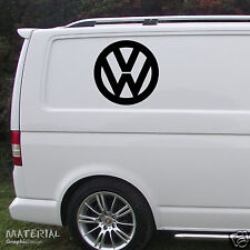 2x VW Volkswagen Logo Sticker Decal -T5 T4 Transporter Golf Passat Bettle Camper