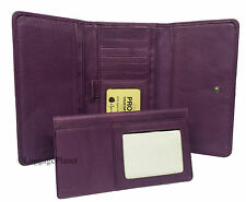 Osgoode Marley Cashmere Leather Womens RFID Wallet w/ Removable Checkbook 1236
