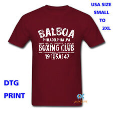 Balboa Boxing Club Men's T Shirt Maroon Shirt Men Usa Size S M L XL 2XL 3XL