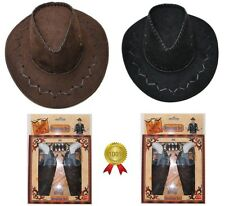 Pistol Gun Set & Cowboy Stetson Hat Wild West Cowboy Fancy Dress Costume Kids