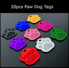 Personalized Engraved Dog Cat Tags Paw Print Custom Dog Name ID Tags Wholesale
