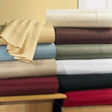 300TC CAL KING WATERBED Sateen Striped Bedroom Sheet Set - Unattached ALL COLORS