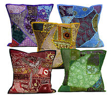 5pcs-100Pcs Applique Embroidery Vintage Patchwork Cushion Covers Wholesale Lot