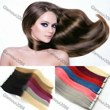 """Seamless Tape In Skin Weft Ombre Remy Human Hair Extensions Straight 20pcs16-24"""""""