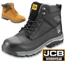 JCB F/TRACK MENS LEATHER SAFETY WATERPROOF WORK BOOTS STEEL MIDSOLE TOE CAP SIZE