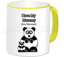 Personalised Gift - I Love My Mummy Panda Coffee Mug Mother's Day Present Idea