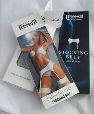 Wolford Body Culture Satin De Luxe Riviera High Waist stocking belt suspender