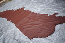 Chocolate Brown Cowhide side Cow hide leather Grainy