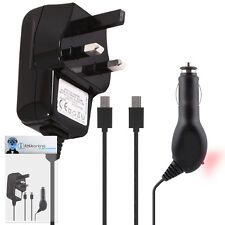 Car And Mains Charger 1000 mAh UK 3 Pin For LG Cookie Lite T300