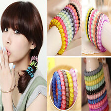 12pcs Hot Sell Girl Elastic Rubber Hair Ties Band Rope Ponytail Holder Scrunchie