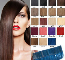 20pcs Brazilian 16-24inch PU Hair Skin Weft Tape in Remy Human Hair Extensions