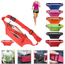 New Fanny Pack Bum Waist Bag Handy Travel Sport Money Wallet Belt Zip Pouches UK